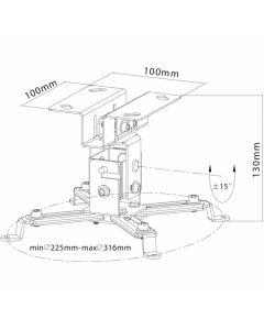 robusto-supporto-per-videoproiettore-da-soffitto-prph40s